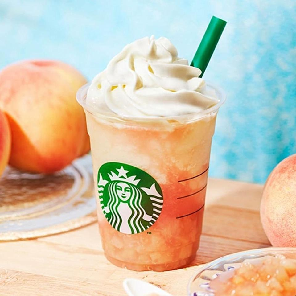 """<p>Trip to Japan, anyone? We think the new Peach on the Beach Frappuccino is a pretty good reason to hop continents. The <a href=""""https://matcha-jp.com/en/7667?type=news"""" target=""""_blank"""">fruity beverage is available at Japan locations</a> beginning on July 19. Through August 29, according to Matcha. You're sure to taste the white Japanese peach that serves as the base of this tasty Frappuccino!</p>"""