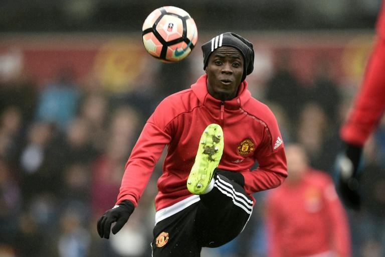 Manchester United's defender Eric Bailly, pictured in February 2017, was suspended for the 2-0 win over Ajax in the Europa League final and will sit out a further two games