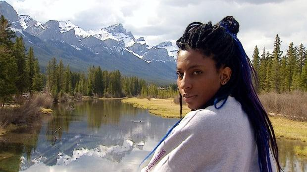 Rebeccah Kellman founded Darken the Mountains to make outdoor spaces more inclusive, especially for members of the BIPOC community. (Julie Debeljak/CBC - image credit)