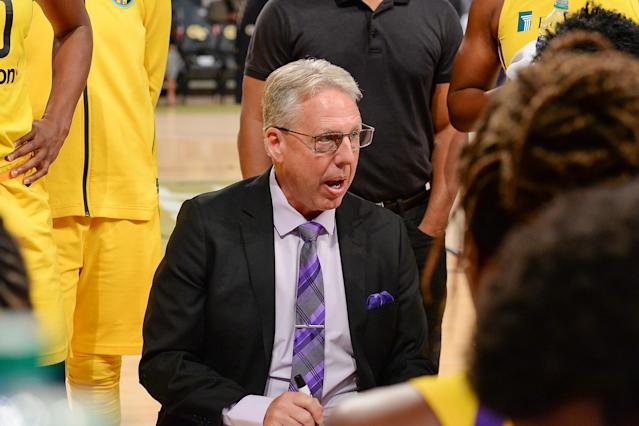 "<a class=""link rapid-noclick-resp"" href=""/wnba/teams/los"" data-ylk=""slk:Los Angeles Sparks"">Los Angeles Sparks</a> coach Brian Agler resigned on Friday after four seasons with the team. (Rich von Biberstein/Getty Images)"