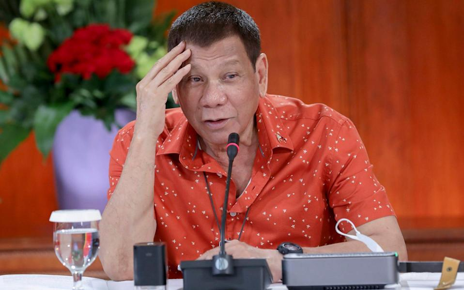 In a typically bombastic address, Mr Duterte told the nation that he was happy to be held personally responsible - Robinson Ninal Jr./Malacanang Presidential Photographers Division