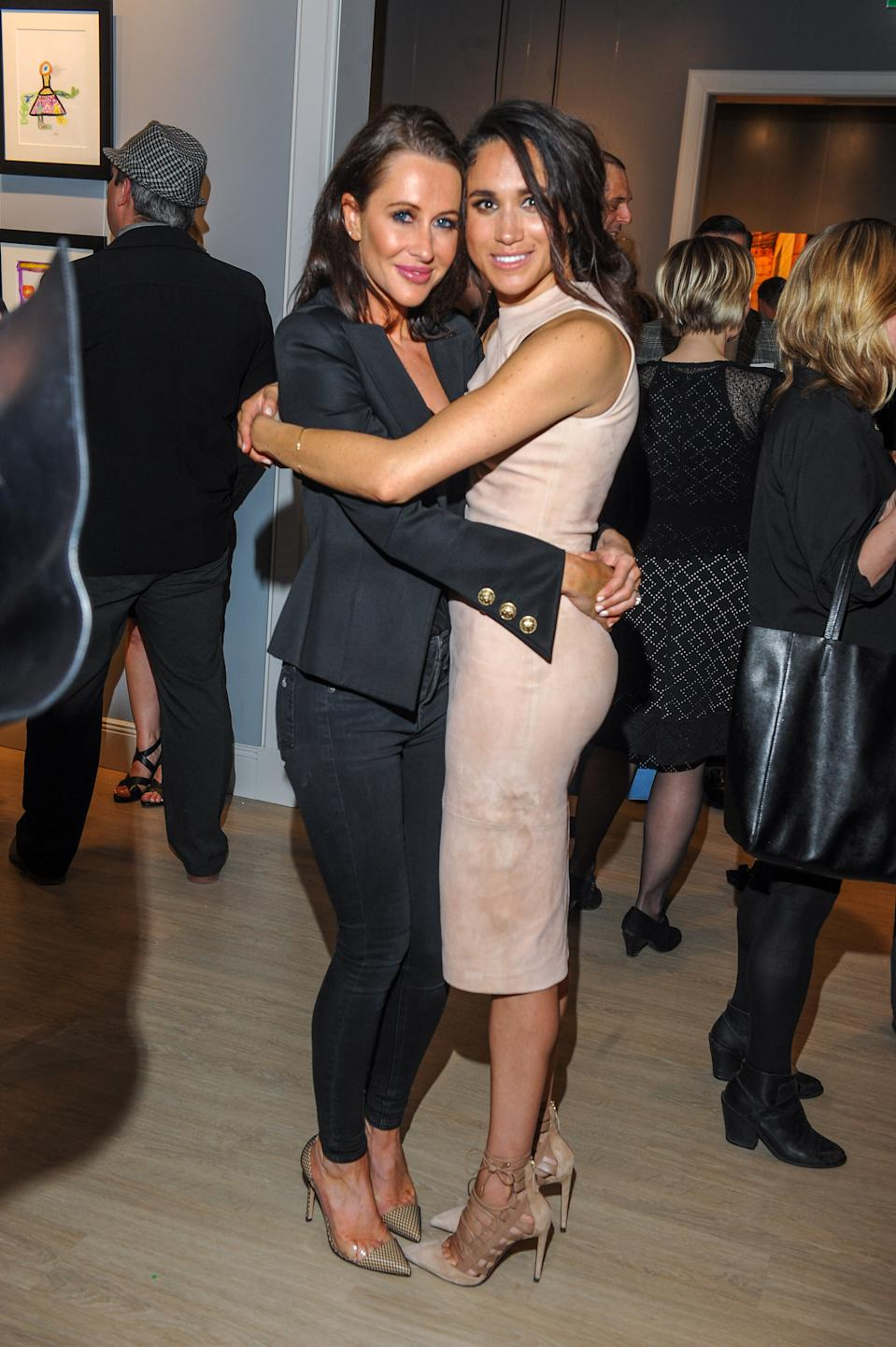 TORONTO, ON - MARCH 22:  Jessica Mulroney and actress Meghan Markle attend the World Vision event held at Lumas Gallery on March 22, 2016 in Toronto, Canada.  (Photo by George Pimentel/WireImage)