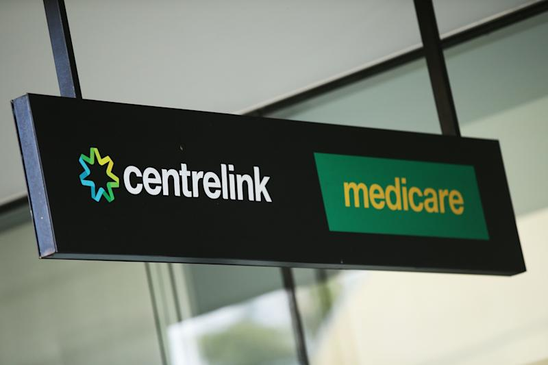 SYDNEY, AUSTRALIA - MARCH 21: A Medicare and Centrelink office sign is seen at Bondi Junction on March 21, 2016 in Sydney, Australia. Federal public sector workers are expected to strike around Australia over a long-running pay dispute. (Photo by Matt King/Getty Images)
