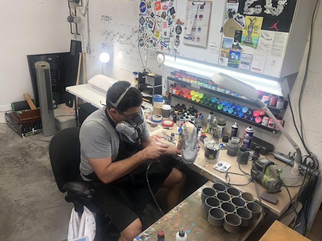"<div class=""caption""> Padron makes between 15-20 pairs of shoes a month, with his work going for $500 to $2,500, depending on how complicated the design. </div> <cite class=""credit"">Brian Wacker</cite>"