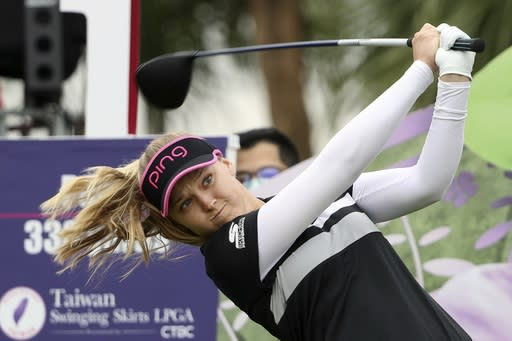 Henderson charges into a share of lead at ANA Inspiration