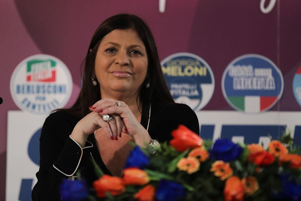 Jole Santelli attends a conference on January 23, 2020 in Lamezia Terme (CZ) ahed of the calabrian regional elections of January 26, 2020. (Photo by Andrea Pirri/NurPhoto via Getty Images) (Photo: NurPhoto via Getty Images)