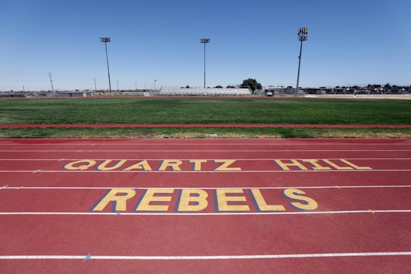 """QUARTZ HILL, CA - JUNE 21: Quartz Hill High School in the Antelope Valley is dropping """"Rebels"""" as its mascot as the nation comes to grips with racial and social issues in the wake of recent events. (Myung J. Chun / Los Angeles Times)"""