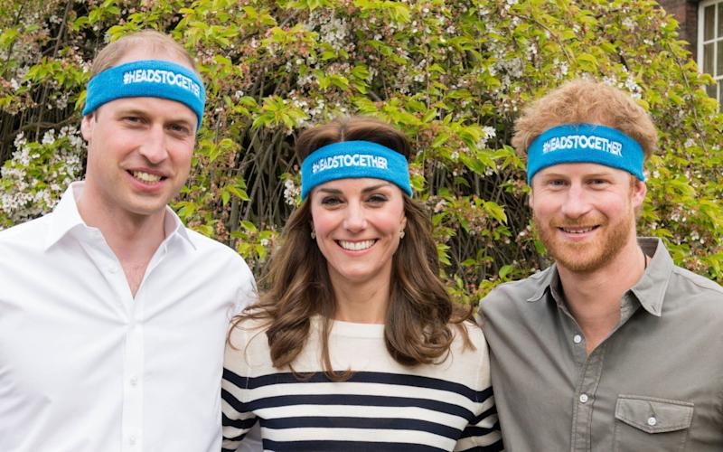 Heads Together: The Duchess and Duke of Cambridge and Prince Harry - Credit: PA