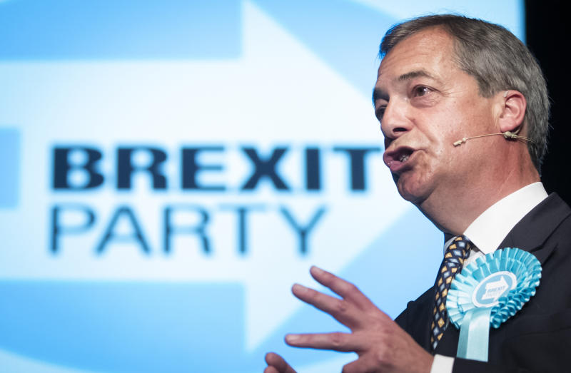 Brexit Party leader Nigel Farage has opened the door to a pact with the Conservative Party (Picture: PA)