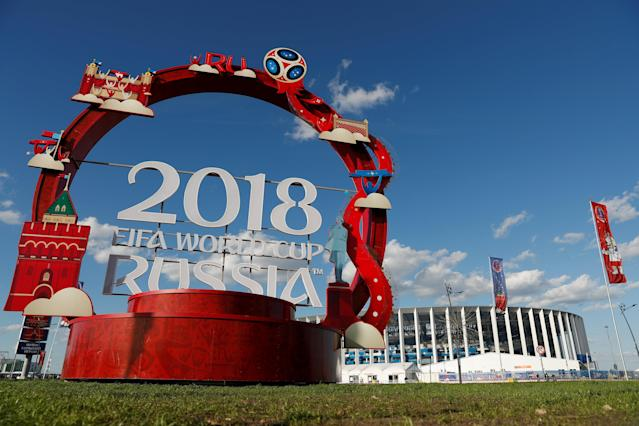 Soccer Football - World Cup - Group D - Argentina vs Croatia - Nizhny Novgorod Stadium, Nizhny Novgorod, Russia - June 21, 2018 General view outside the stadium before the match REUTERS/Matthew Childs