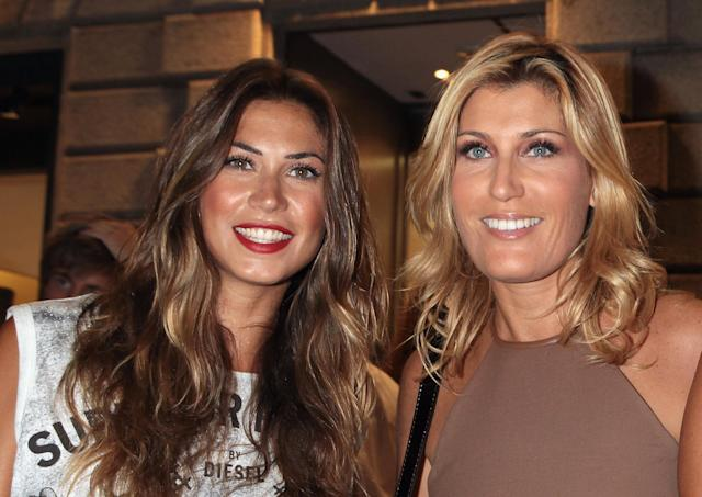 MILAN, ITALY - SEPTEMBER 08: Melissa Satta (L) and Raffaella Zardo (R) attend Fendi Cocktail Party during the Milan 2011 Vogue Fashion Night Out on September 8, 2011 in Milan, Italy. (Photo by Elisabetta Villa/Getty Images for Fendi)