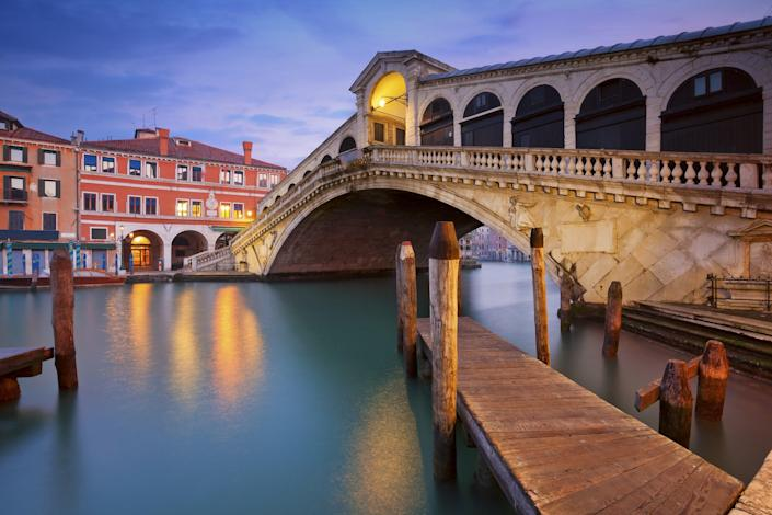 Venice's Rialto Bridge, which was built in the 16th century, is the oldest bridge still standing over the city's Grand Canal.