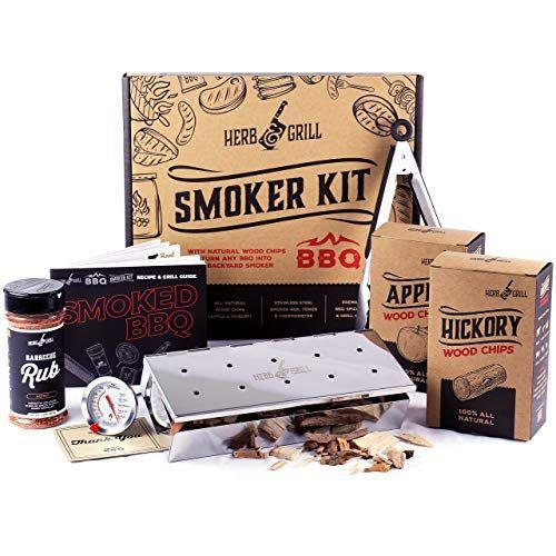 """<p><strong>Herb & Grill</strong></p><p>amazon.com</p><p><strong>$54.99</strong></p><p><a href=""""https://www.amazon.com/dp/B07Y7S1WJD?tag=syn-yahoo-20&ascsubtag=%5Bartid%7C2164.g.32883915%5Bsrc%7Cyahoo-us"""" rel=""""nofollow noopener"""" target=""""_blank"""" data-ylk=""""slk:Shop Now"""" class=""""link rapid-noclick-resp"""">Shop Now</a></p><p>Upgrade his BBQ game with these flavored wood chips and pellets! This kit features instructions and recipes inside of a beautiful gift box, making it a special, one-of-a-kind gift any meat-loving dad will love.</p>"""