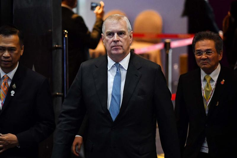 Prince Andrew announced on Wednesday that he was stepping away from public life (AFP via Getty Images)