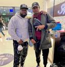 <p>Da'Vinchi, who stars in the upcoming series <em>BMF</em>, posed with the show's executive producer Curtis Jackson, known professionally as 50 Cent. <em>Premieres Sept. 26 on Starz.</em></p>