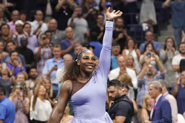 """<a class=""""link rapid-noclick-resp"""" href=""""/olympics/rio-2016/a/1132744/"""" data-ylk=""""slk:Serena Williams"""">Serena Williams</a> is back in the U.S. Open finals just a year after facing serious health issues. (AP Photo/Julio Cortez)"""