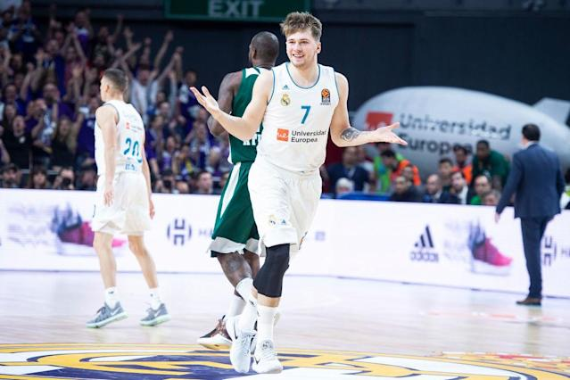 "Slovenian wunderkind Luka Doncic is still committed to <a class=""link rapid-noclick-resp"" href=""/soccer/teams/real-madrid/"" data-ylk=""slk:Real Madrid"">Real Madrid</a> for at least two more games. (Getty Images)"