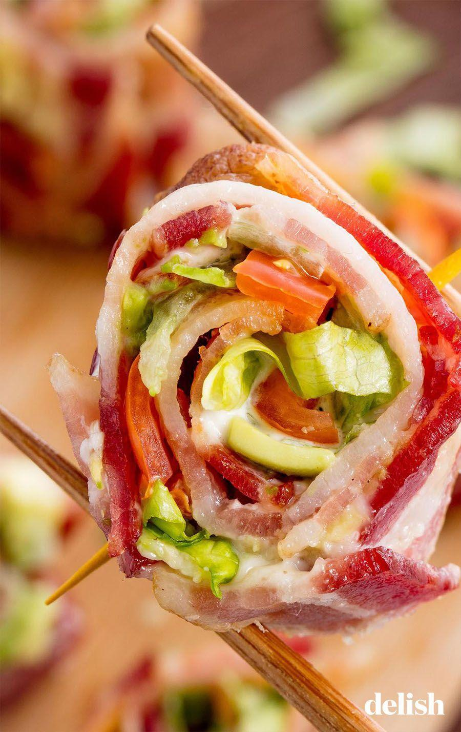 "<p>We consider the BLT to be a major food group. </p><p>Get the recipe from <a href=""https://www.delish.com/cooking/recipe-ideas/recipes/a51582/blt-sushi-recipe/"" rel=""nofollow noopener"" target=""_blank"" data-ylk=""slk:Delish"" class=""link rapid-noclick-resp"">Delish</a>.</p>"