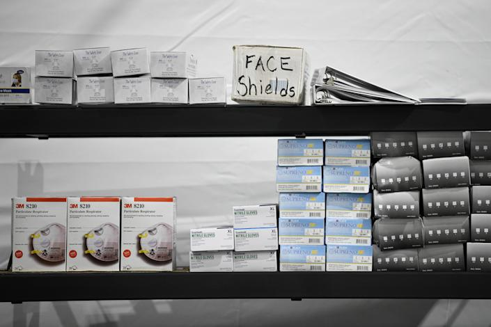 Supplies are seen during a tour of U.S. Customs and Border Protection (CBP) temporary facilities in Donna, Texas, U.S. May 2, 2019. (Photo: Loren Elliott/Reuters)