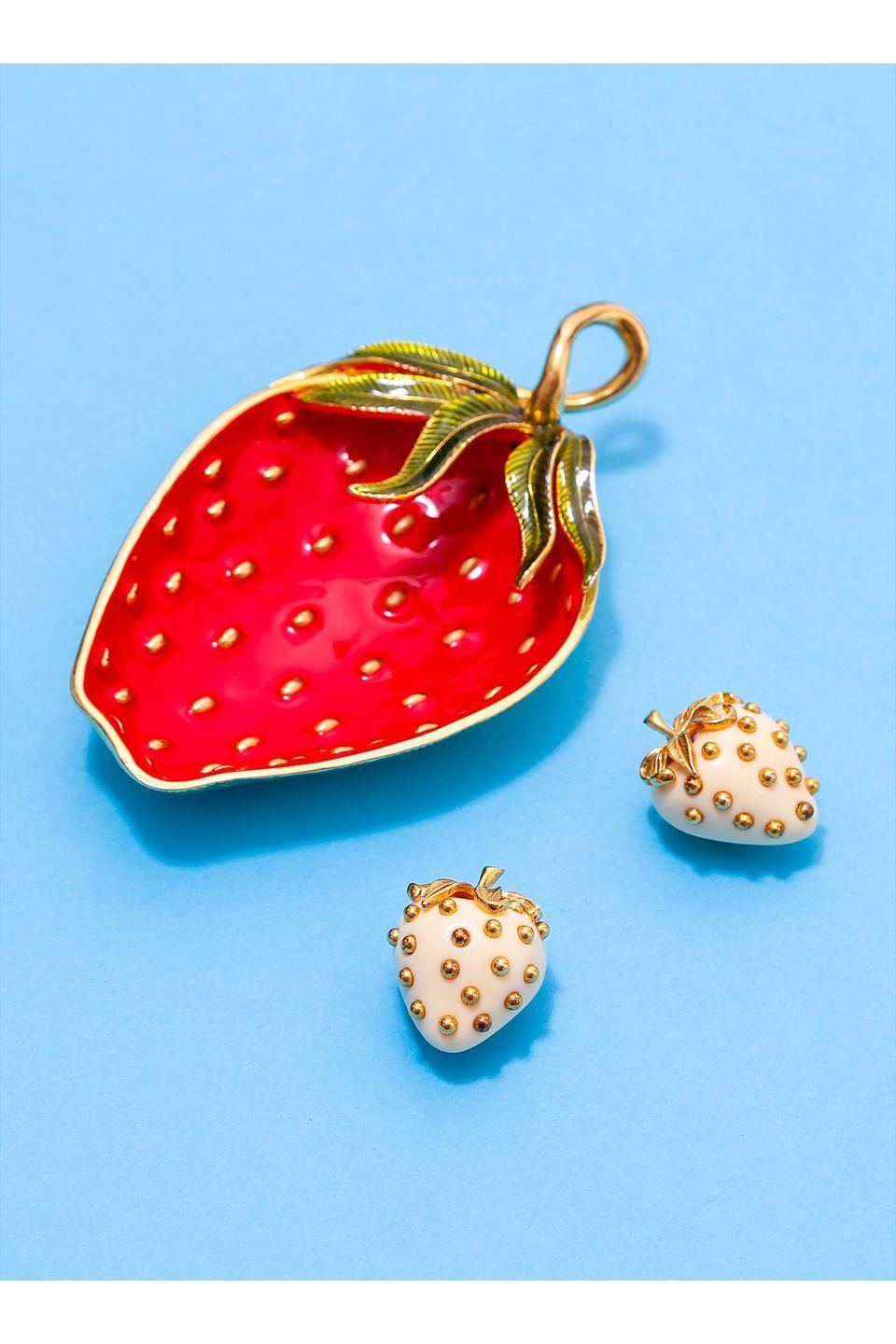 <p>Princess Margaret was spotted in these Fruit Salad earrings from the 1992 collection. Go full kitsch (in the best way) and also opt for the Fruit Salad strawberry dish. </p>