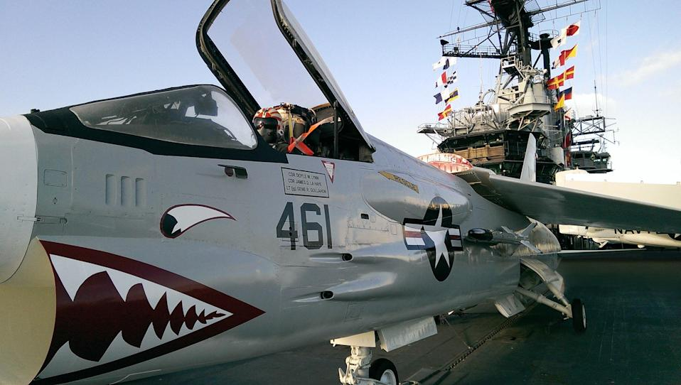 "<p><strong>Zoom out. What's this place all about?</strong><br> San Diego is a navy town, with 59 ships homeported there. The U.S.S. Midway, America's longest-serving aircraft carrier of the 20th century, became a museum after being decommissioned in 1992.</p> <p><strong>What will we see here?</strong><br> Due to security measures, opportunities for the general public to visit military installations are limited. That's why the Midway is one of the most popular attractions in San Diego. Visitors can get a taste of navy life by visiting the plane-packed flight deck, sprawling hangar bay, mess hall, and berthing. The museum hosts about 400 active-duty military events annually—including reenlistment, retirement and change-of-command ceremonies—which are all open for the public to observe.</p> <p><strong>What did you make of the crowd?</strong><br> Guests, who can also explore 60 exhibits and 29 restored aircraft, or even take a spin in a flight simulator, are understandably giddy and fairly enthused.</p> <p><strong>What do they have for tours?</strong><br> Sometimes called a ""floating city"" due to its massive size, which stretches roughly the length of three football fields, the Midway's self-guided audio tour takes an entire three hours to complete in full.</p> <p><strong>Gift shop: obligatory, inspiring—or skip it?</strong><br> The Jet Shop is fairly focused, but kids might find some good souvenirs.</p> <p><strong>Is the café worth a stop, or should we just plan on going elsewhere?</strong><br> While they're building out the new indoor-outdoor Cafe 41 due in 2021, Jetshop gift shop is serving a small selection of cold drinks and snacks.</p>"