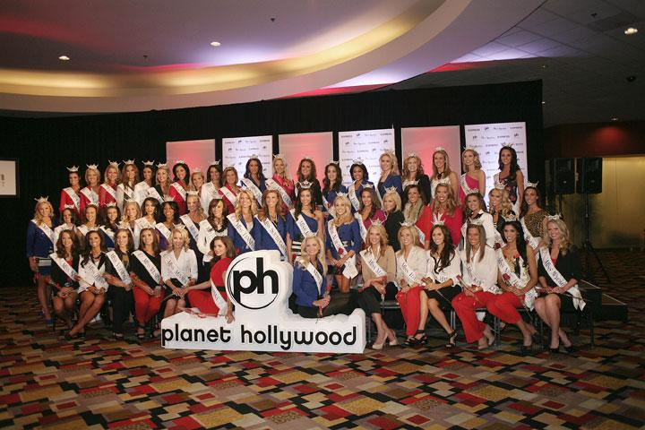 LAS VEGAS, NV - JANUARY 05:  2012 Miss America Pageant contestants attend the Arrival Ceremony hosted by Josh Strickland at Planet Hollywood Casino Resort on January 5, 2012 in Las Vegas, Nevada.  (Photo by Marcel Thomas/FilmMagic)