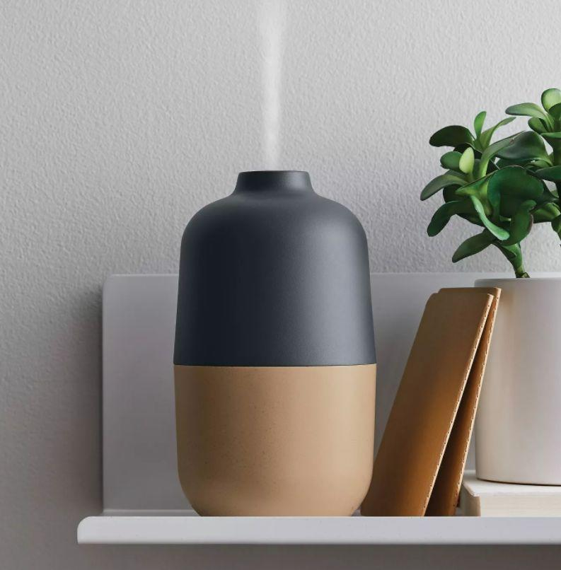"""This diffuser has up to six hours of vapor, two timer settings and an auto shut-off feature.<a href=""""https://goto.target.com/oAX0O"""" target=""""_blank"""" rel=""""noopener noreferrer"""">Find it for $22 at Target</a>."""