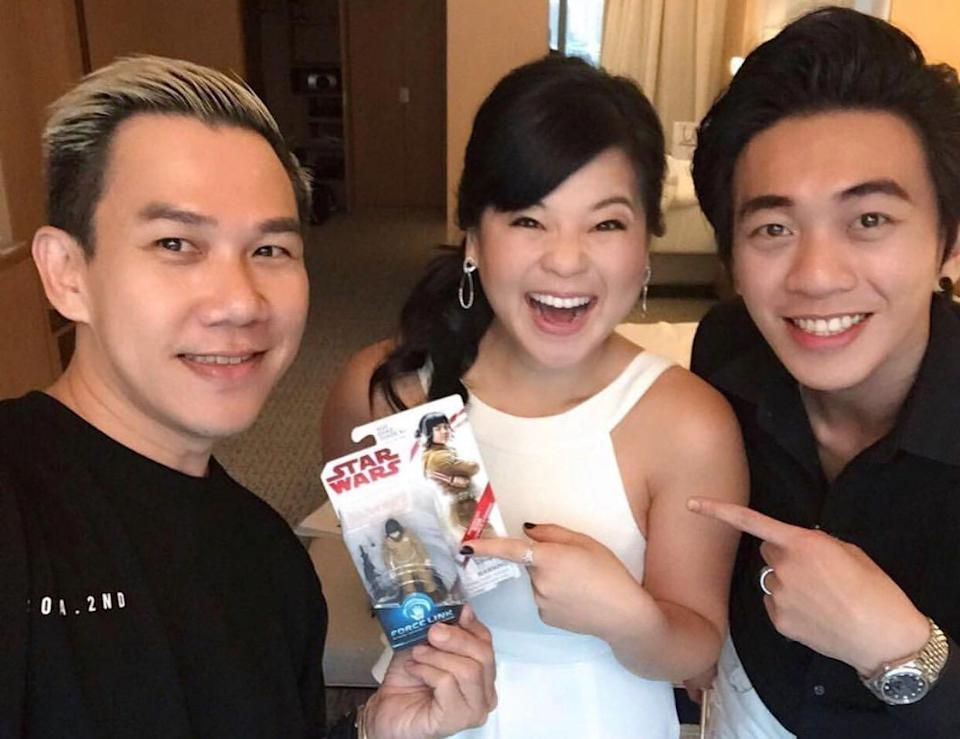Den Ng with Kelly Marie Tran, Star Wars:The Last Jedi actress