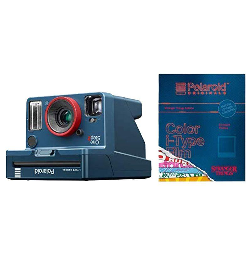 """<p><strong>Polaroid Originals</strong></p><p>amazon.com</p><p><strong>$126.98</strong></p><p><a href=""""http://www.amazon.com/dp/B07RPZ4QKD/?tag=syn-yahoo-20&ascsubtag=%5Bartid%7C10054.g.23457946%5Bsrc%7Cyahoo-us"""" target=""""_blank"""">Buy</a></p><p>Polaroid released a limited-edition instant camera (with upside-down type) that perfectly captures those '80s vibes. The film itself is special too, with border designs that reflect the show.</p>"""