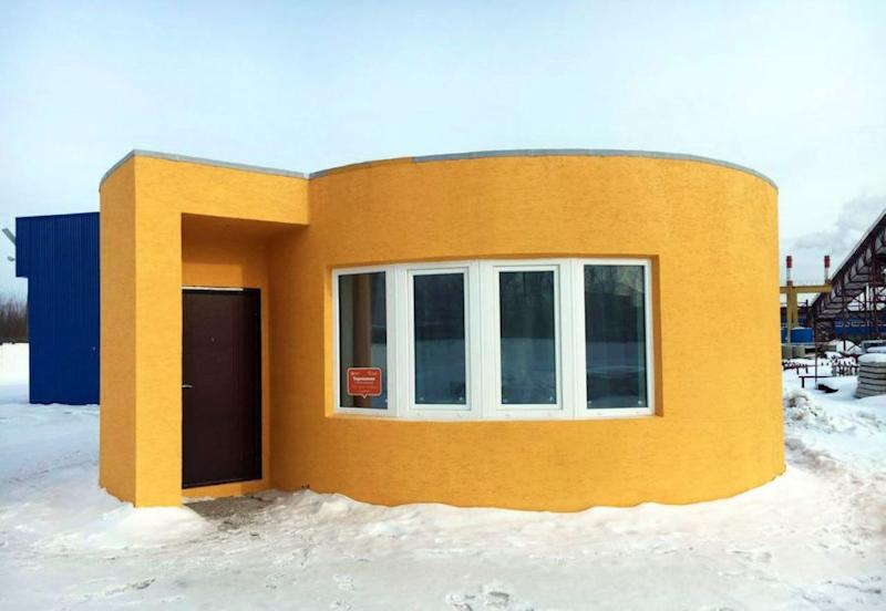 We can't stop watching this 3D printer building a house in under 24 hours