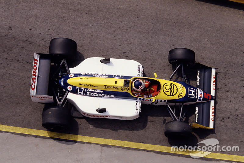 "Nigel Mansell - Williams FW11B-Honda - GP de San Marino 1987<span class=""copyright"">LAT Images</span>"