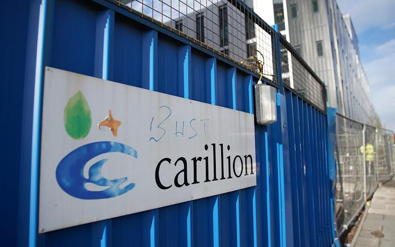Carillion went into liquidation on January 15 - Getty Images Europe