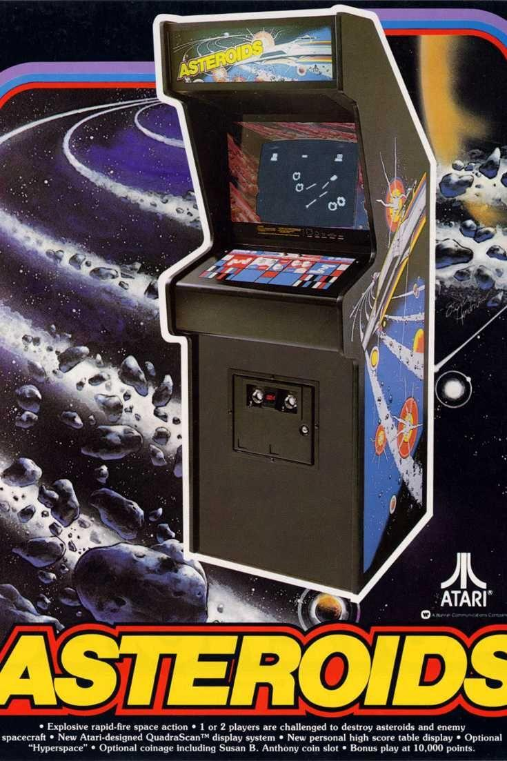 "<p>Who knew that a small triangular ship navigating space debris would sell 70,000 cabinets and become a giant in the golden age of arcades. Supposedly, <em>Asteroids</em>became so popular in the U.S. that arcades had to <a href=""https://web.archive.org/web/20121029030926/http://classicgaming.gamespy.com/View.php?view=GameMuseum.Detail&id=25"" rel=""nofollow noopener"" target=""_blank"" data-ylk=""slk:install bigger coin buckets"" class=""link rapid-noclick-resp"">install bigger coin buckets</a> to hold all the coins.</p><p><a class=""link rapid-noclick-resp"" href=""https://www.amazon.com/Arcade-Classics-Asteroids-Retro-Handheld/dp/B071NPHKWD/?tag=syn-yahoo-20&ascsubtag=%5Bartid%7C10054.g.2871%5Bsrc%7Cyahoo-us"" rel=""nofollow noopener"" target=""_blank"" data-ylk=""slk:PLAY NOW"">PLAY NOW</a></p>"