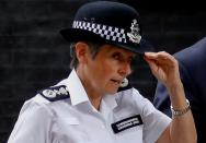 FILE PHOTO: Metropolitan Police Commissioner Cressida Dick leaves after a meeting with Britain's Prime Minister Boris Johnson at Downing Street in London