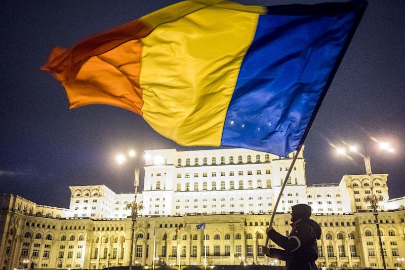 Massive protests against corruption in February forced the Romanian government to abandon legislation seen as easing up on graft (AFP Photo/ANDREI PUNGOVSCHI)