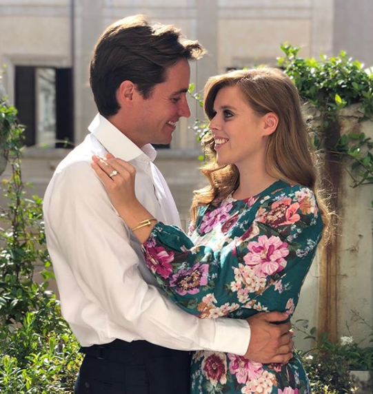 Princess Beatrice and Edoardo became engaged during a weekend away in Italy earlier this month. Photo: Instagram/princesseugenie.