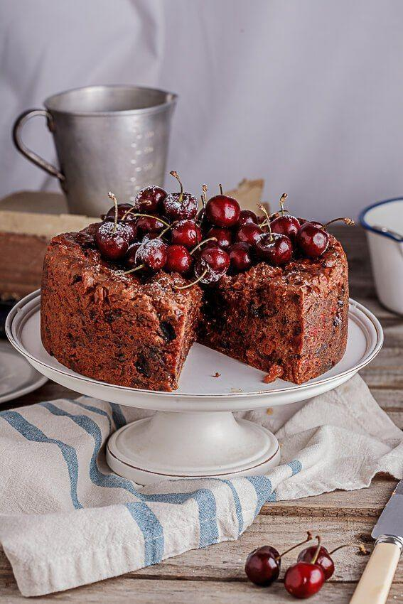"<p>Once out of the oven, top this dense dessert with salted maple syrup spiked with lots of brandy. Let it soak overnight, and when ready to serve, dust with powdered sugar and top with fresh cherries.</p><p><strong>Get the recipe at <a href=""http://simply-delicious-food.com/classic-fruit-cake-with-salted-maple-syrup/"" rel=""nofollow noopener"" target=""_blank"" data-ylk=""slk:Simply Delicious"" class=""link rapid-noclick-resp"">Simply Delicious</a>. </strong></p><p><a class=""link rapid-noclick-resp"" href=""https://www.amazon.com/Cuisinart-AMB-9RCK-Classic-Nonstick-Bakeware/dp/B0000ULZX6/?tag=syn-yahoo-20&ascsubtag=%5Bartid%7C10050.g.3610%5Bsrc%7Cyahoo-us"" rel=""nofollow noopener"" target=""_blank"" data-ylk=""slk:SHOP CAKE PANS"">SHOP CAKE PANS</a></p>"