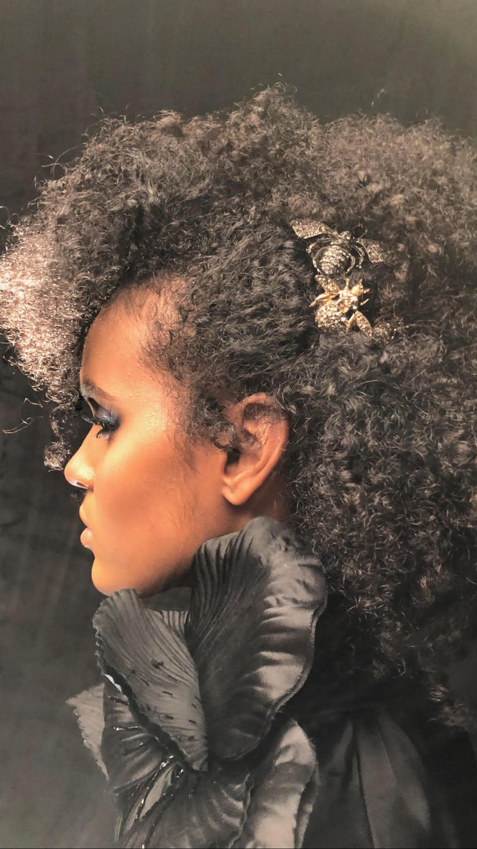 <p>And an intricate hairpin elevates this hairdo. (Photo: Courtesy of Ted Gibson) </p>