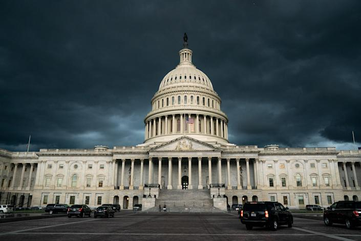 The U.S. Capitol Building before a storm in Washington, July 22, 2020. (Anna Moneymaker/The New York Times)