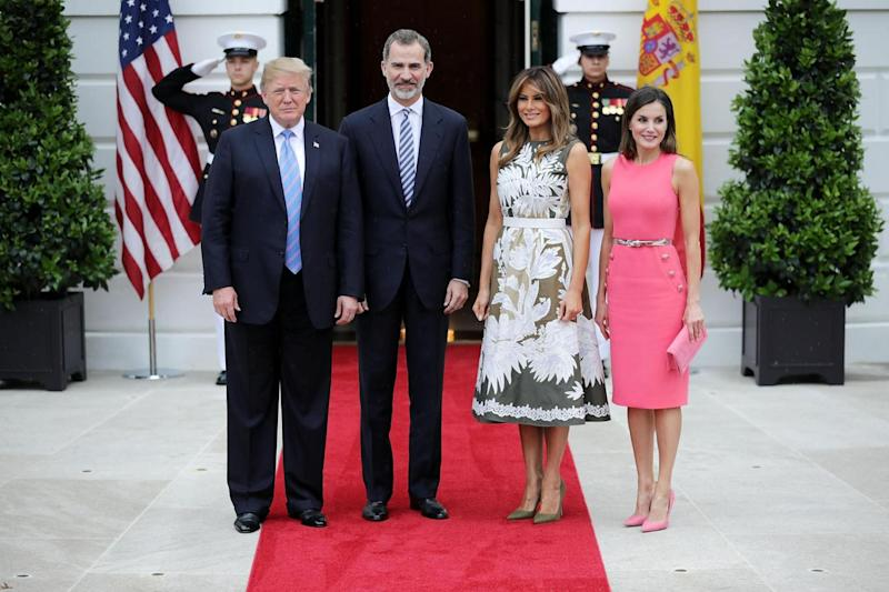 President Donald Trump, King Felipe VI of Spain, First Lady Melania Trump and Queen Letizia of Spain (Getty Images)