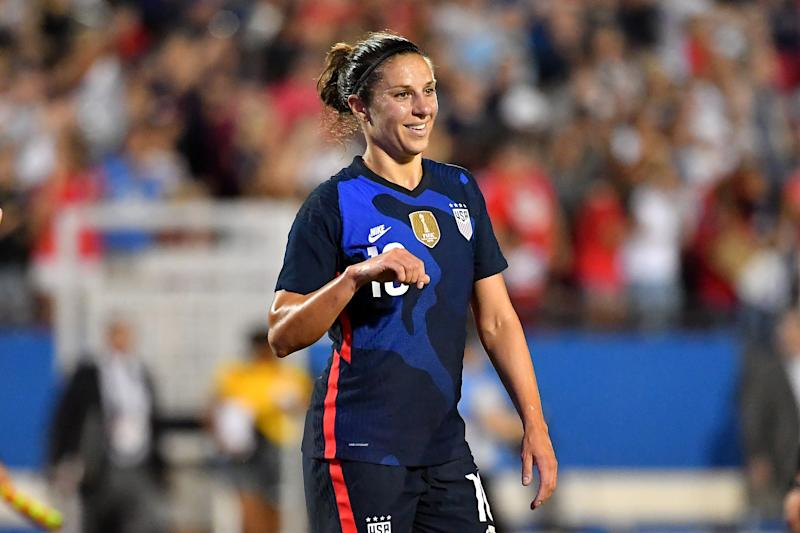 Carli Lloyd is not apologizing for a tweet she sent about her new ride on Monday. (Photo by Alika Jenner/Getty Images)