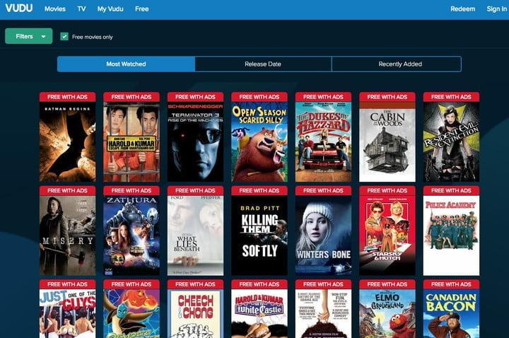 Where to watch free movies online