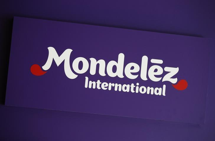 Logo of Mondelez International is pictured at the company's building in Zurich