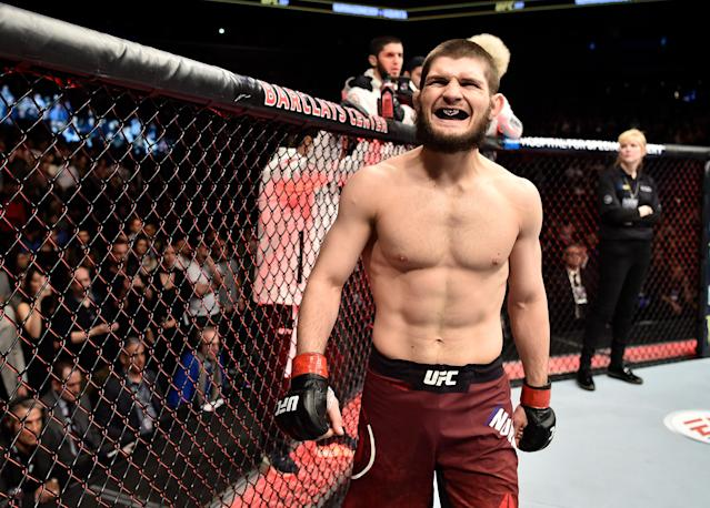 Khabib Nurmagomedov (26-0) is the first Russian UFC champion. (Getty Images)