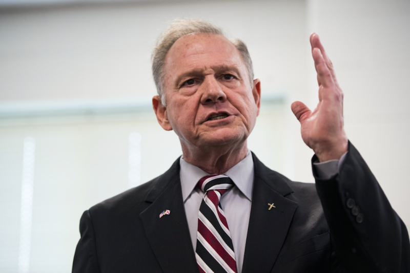 The controversial Roy Moore is running for Senate (Picture: Rex)