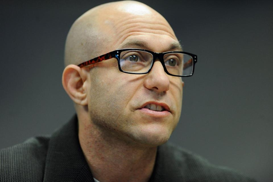 Jeremy Richman, the father of Sandy Hook Elementary school shooting victim Avielle Richman, addresses the Sandy Hook Advisory Commission in Newtown, Conn., Nov. 14, 2014. (Photo: Jessica Hill/AP)