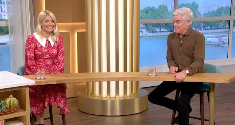 Holly Willoughby and Phillip Schofield on This Morning (Photo: ITV)
