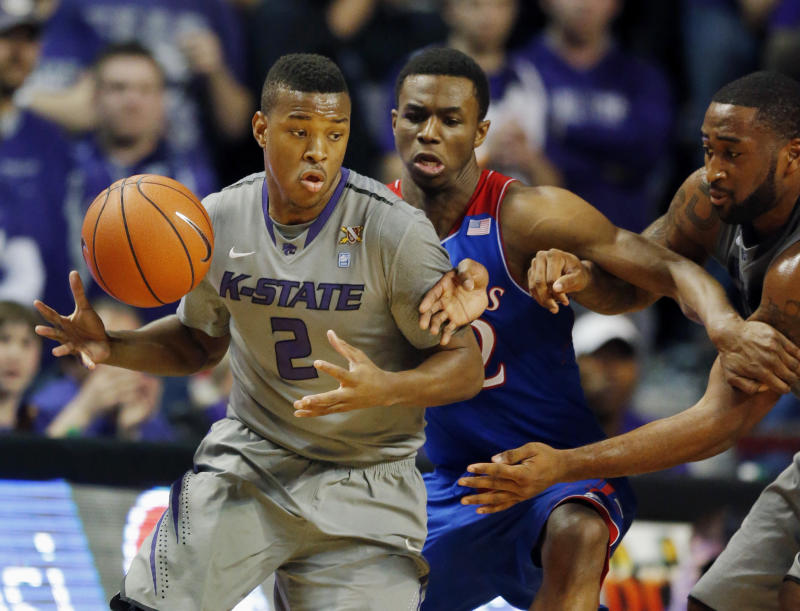 Kansas State holds off No. 7 Kansas, 85-82 in OT