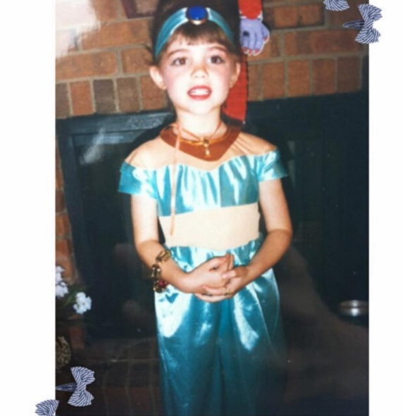 Can you guess which famous actress this adorable Princess Jasmine grew up to be?