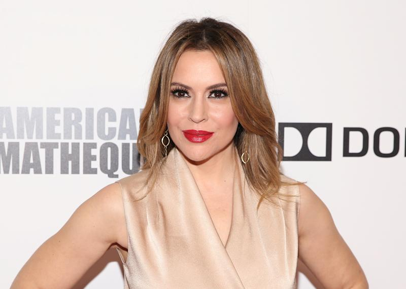 Actress Alyssa Milano poses at the 32nd American Cinematheque Award ceremony honoring Bradley Cooper in Beverly Hills, California, U.S., November 29, 2018. REUTERS/Danny Moloshok
